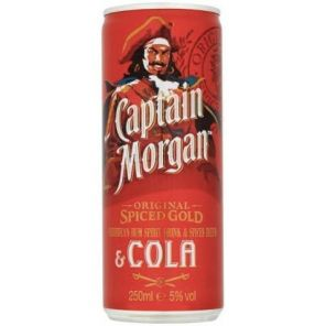 CAPT. MORGAN Sp. G. + cola 0,25l