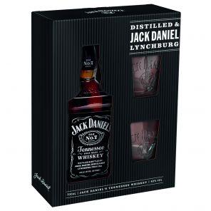 JACK DANIELS+2sklo kaz.40% 0,7l