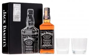 JACK DANIELS+2 sklo pl.kazeta 40% 0.7l