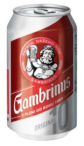 GAMBRINUS Original plech 0.3l 10°