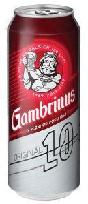 GAMBRINUS Original plech 0.5l 10°