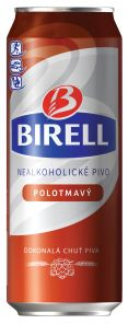 BIRELL Plech 0,5L Polotmavý