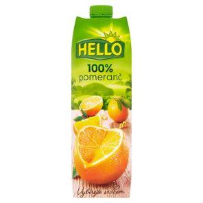 HELLO 1L pomeranč 100%